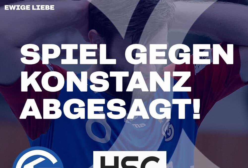 Spielabsage aufgrund positivem Corona-Test im Team der HSG Konstanz