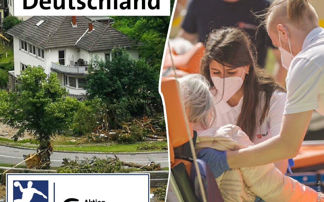 #handballerhelfen: Der deutsche Handball ist solidarisch in der Hochwasser-Katastrophe und ruft Spendenaktionen ins Leben